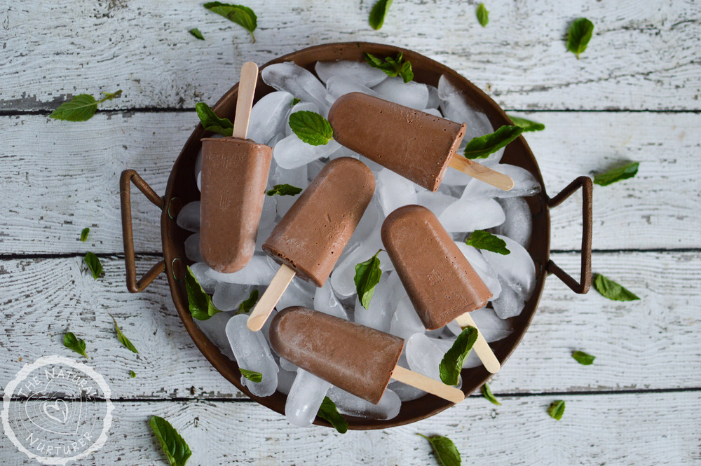 Paleo Double Chocolate Frozen Fudge Pops