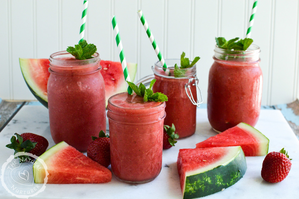 Watermelon Mint Slushies