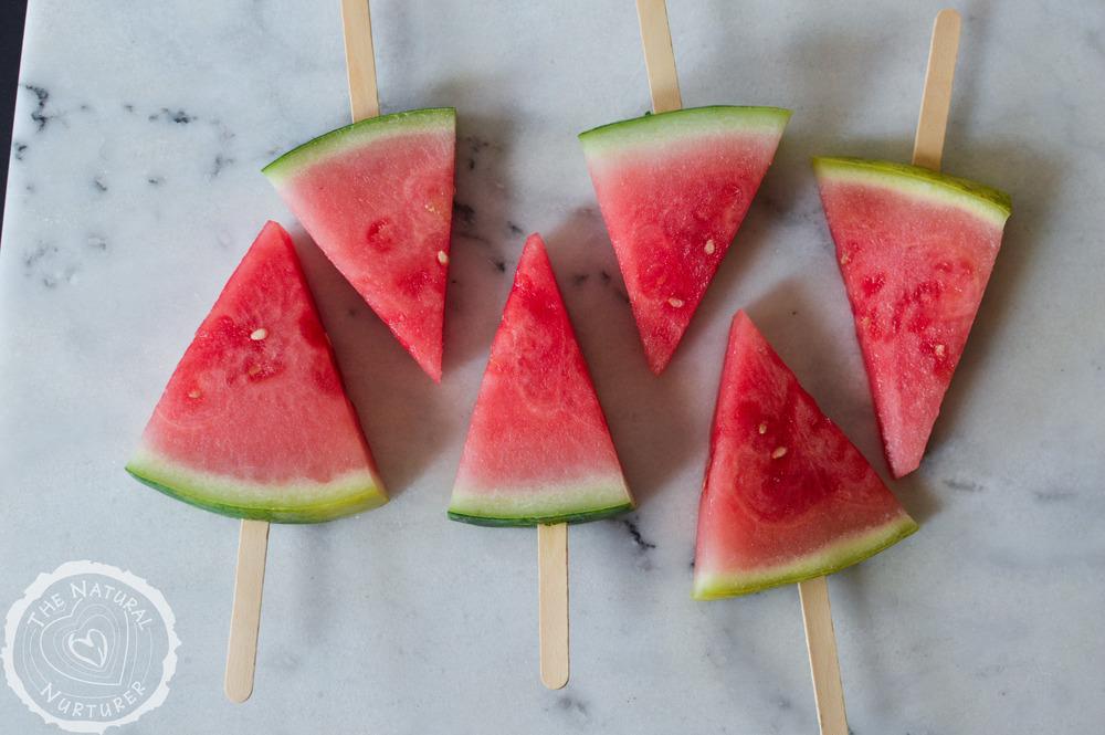 "Frozen Watermelon ""Popsicles"" — The Natural Nurturer"