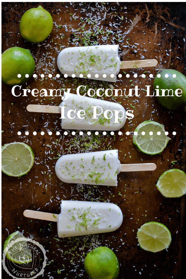 Creamy Coconut Lime Ice Pops