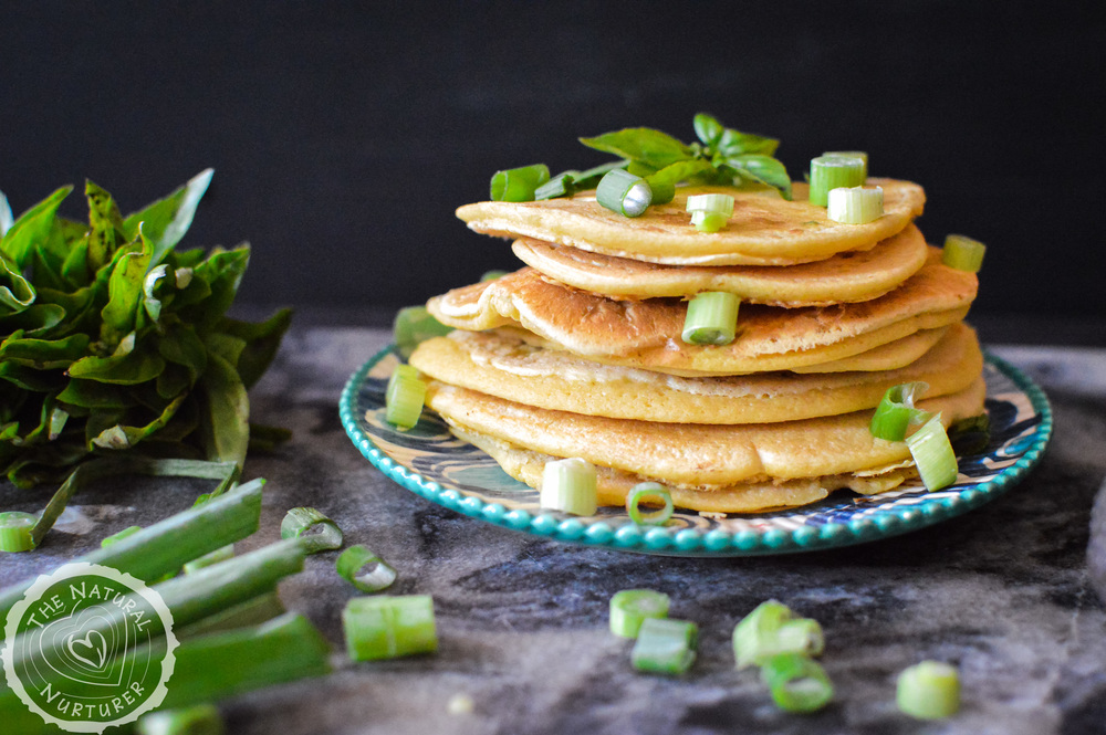 Savory grain-free pancakes