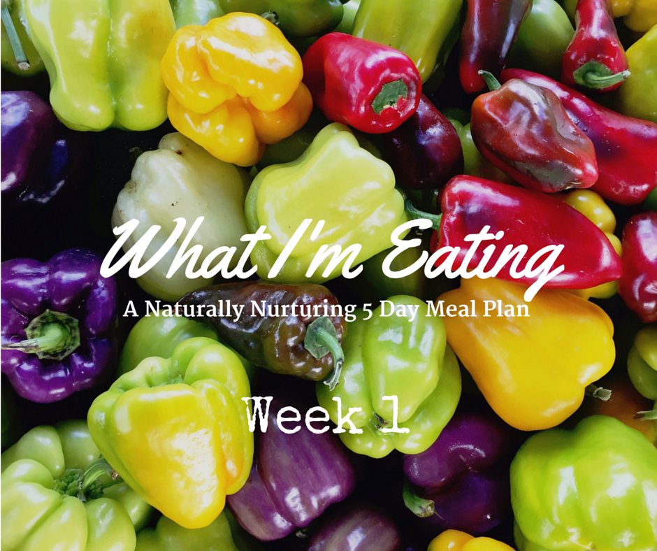 What I'm Eating Week 1