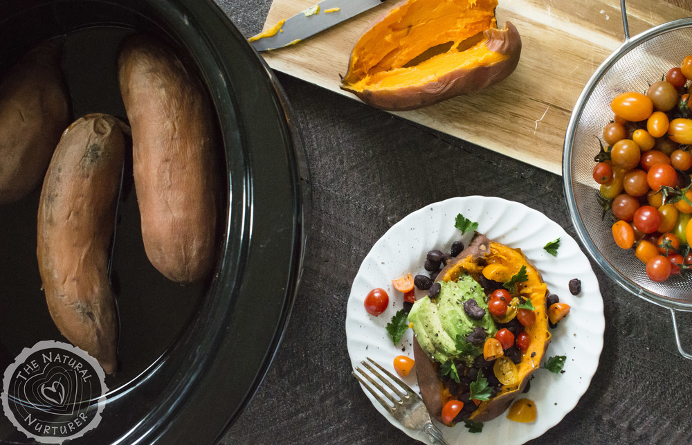 Super Duper Easy Sweet Potatoes in the Slow Cooker