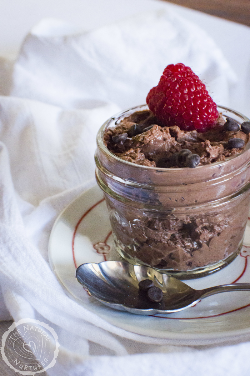 Easy Chocolate Raspberry Mousse (dairy free)