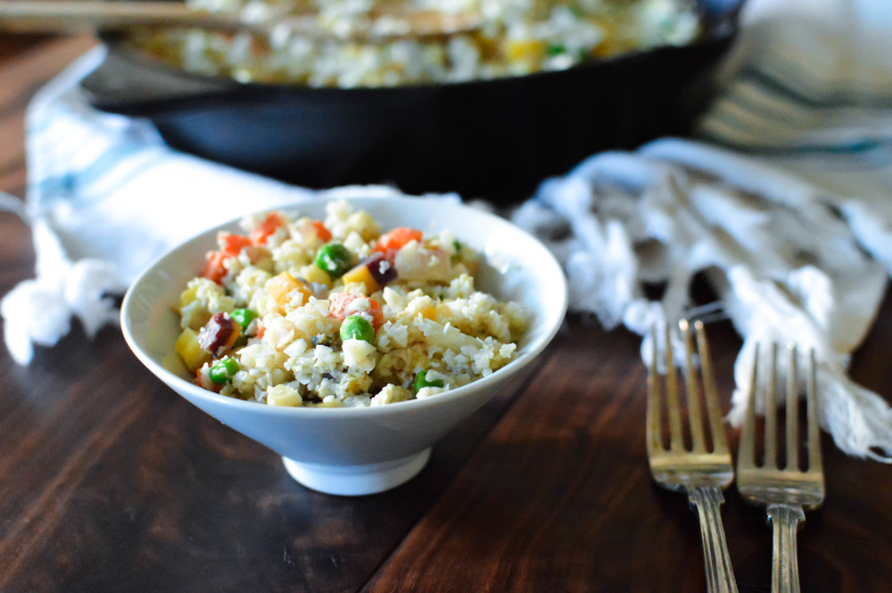 "One-Skillet Fried Cauliflower ""Rice"""