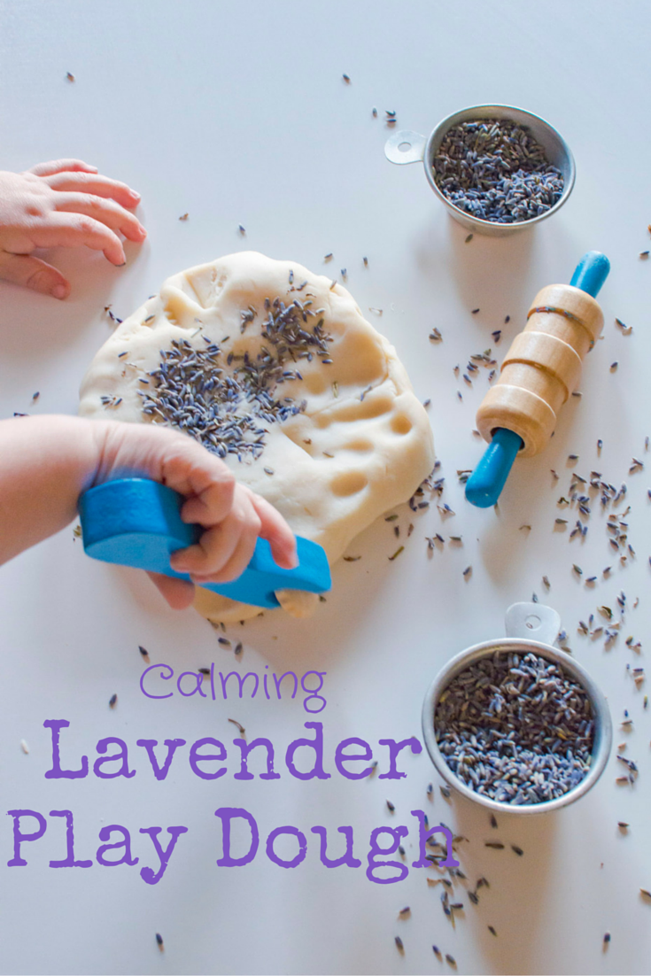 Homemade play dough is quite easy to make, much more cost efficient then buying the pre-made kind, and usually lasts longer when stored properly! Plus, with the addition of a little lavender aroma therapy, it can be an engaging and calming activity for those days where you need a few extra minutes with your cup of coffee before you're ready to adult.