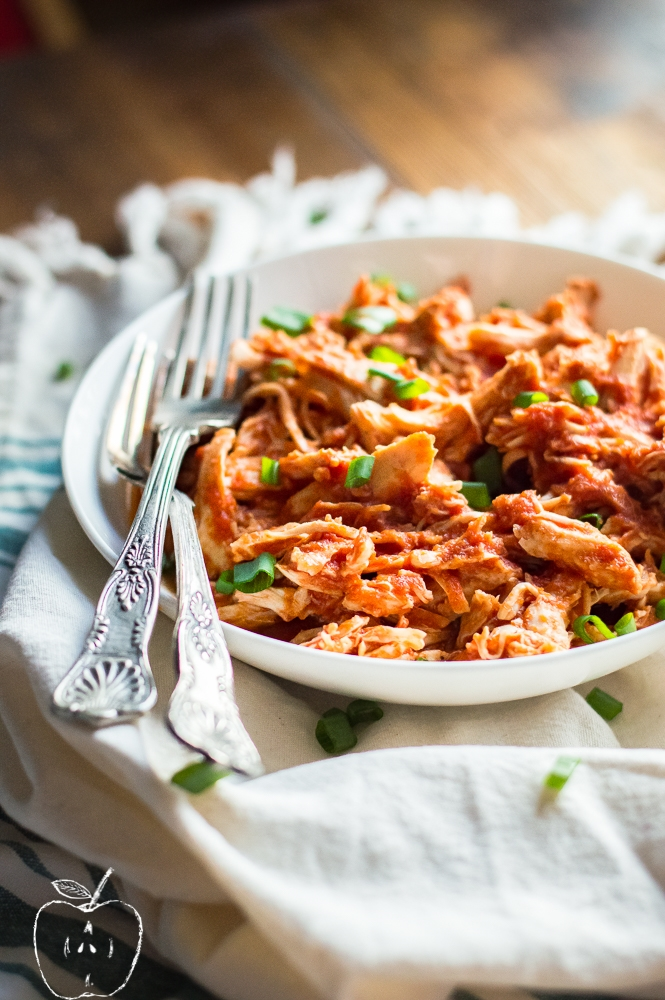 Slow Cooker Pulled BBQ Chicken (Whole30 & Paleo)