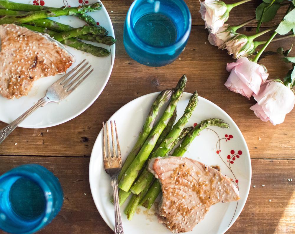 Sesame Ginger Tuna Steaks (Whole30)