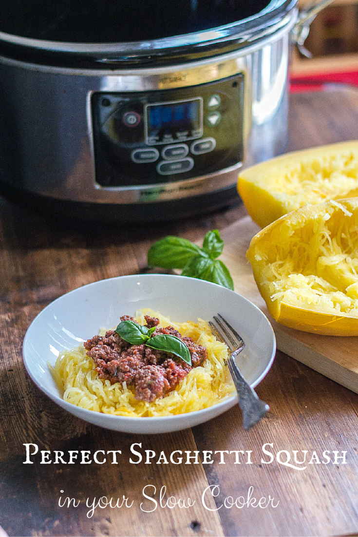 Perfect Spaghetti Squash in Your Slow Cooker