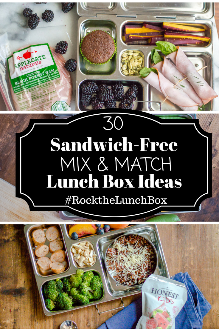 30 Sandwich-Free Mix & Match Lunch Box Ideas #RockTheLunchBox