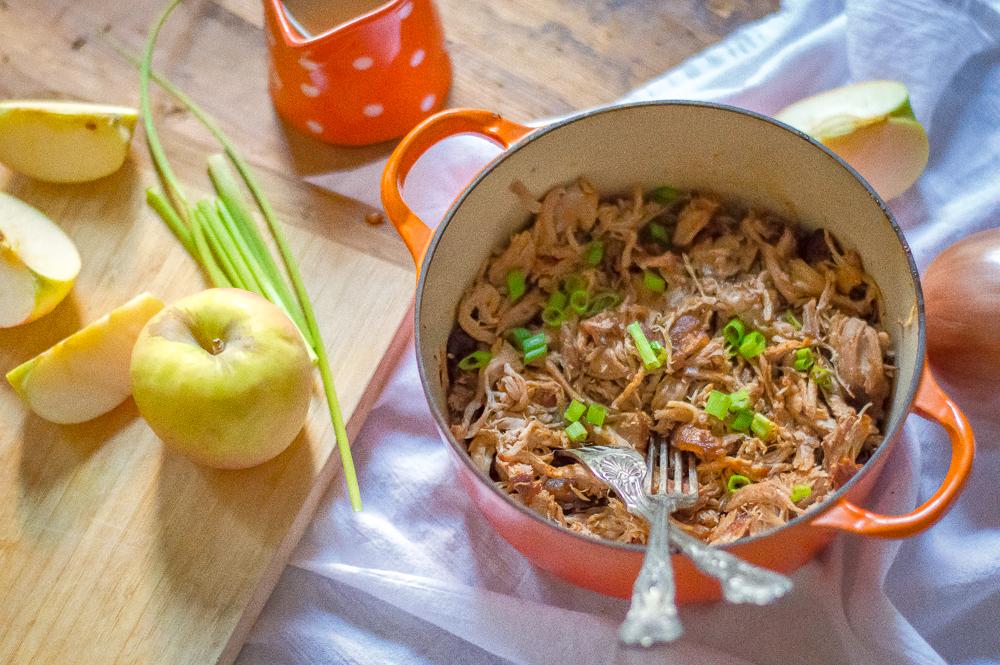 Slow Cooker Apple Cider Pulled Pork