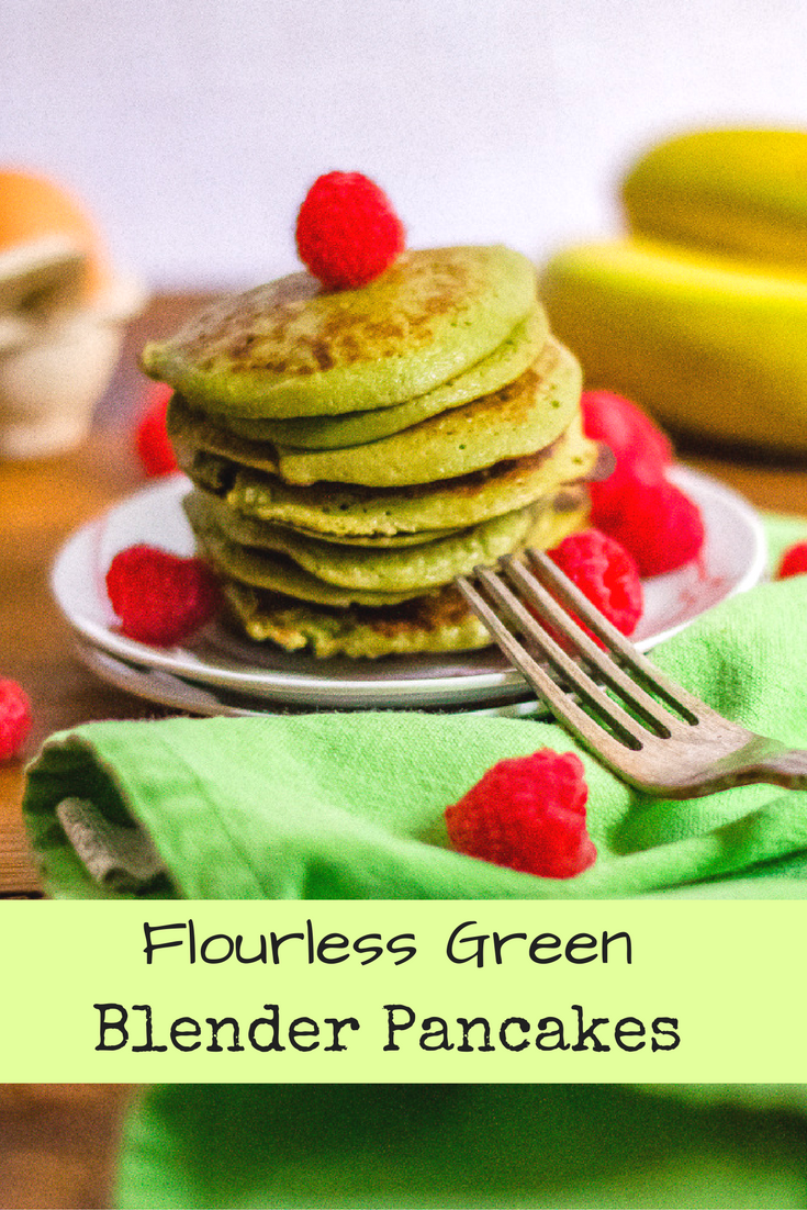 Flourless Green Blender Pancakes