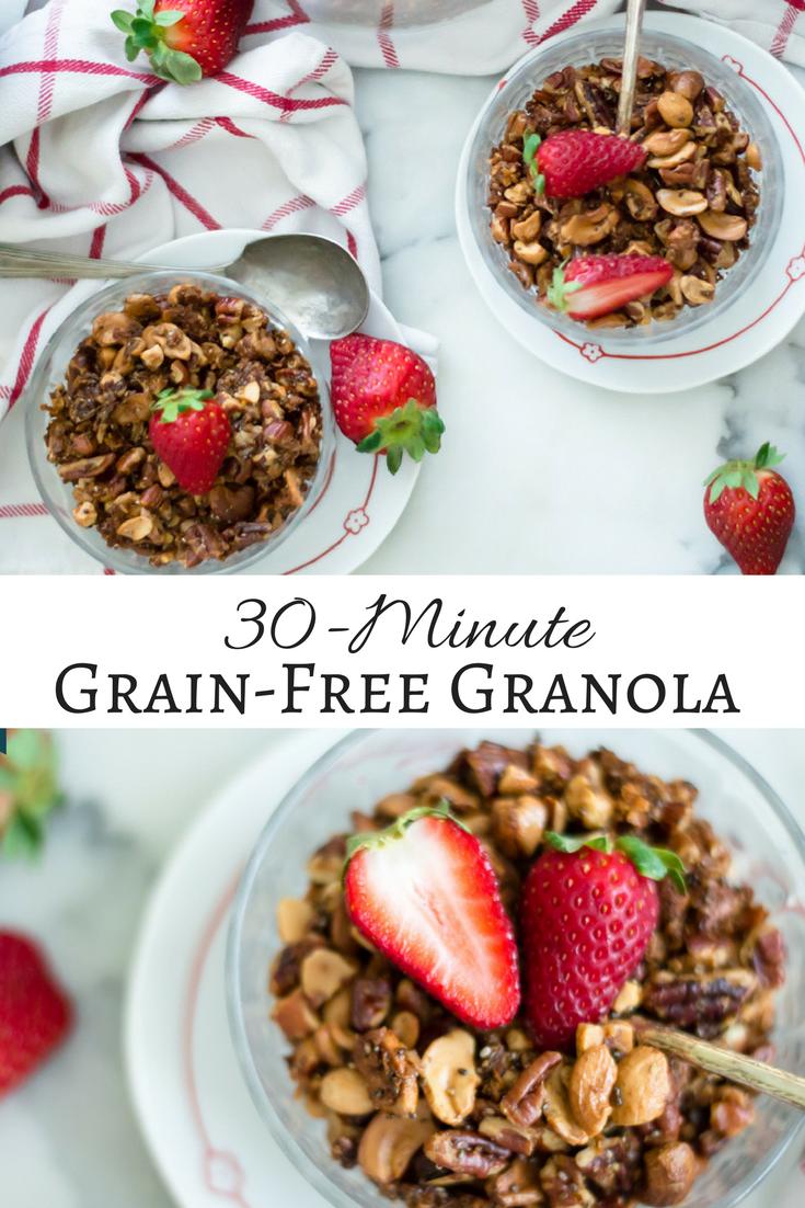 30-Minute Grain-Free Granola