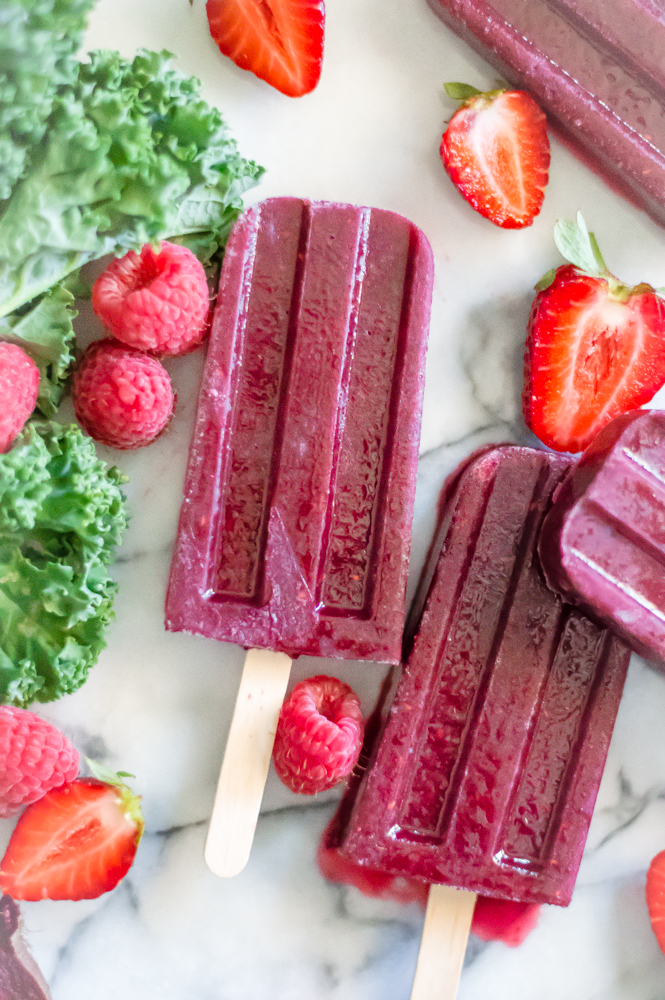 Radically Red Smoothie Pops