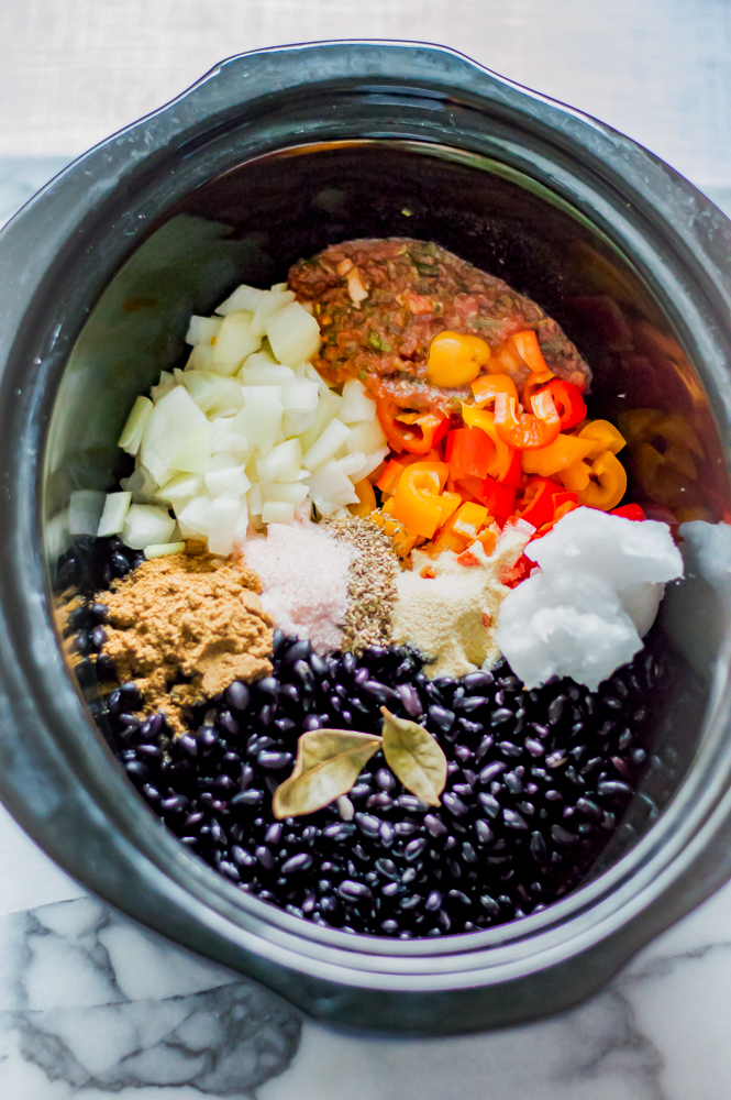 The BEST Slow Cooker Black Beans