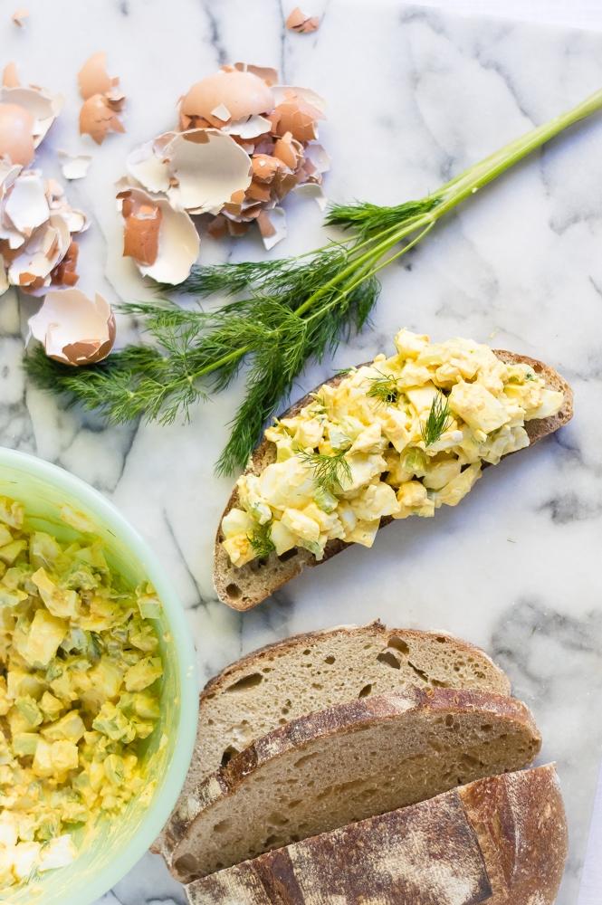 Simple Turmeric Egg Salad