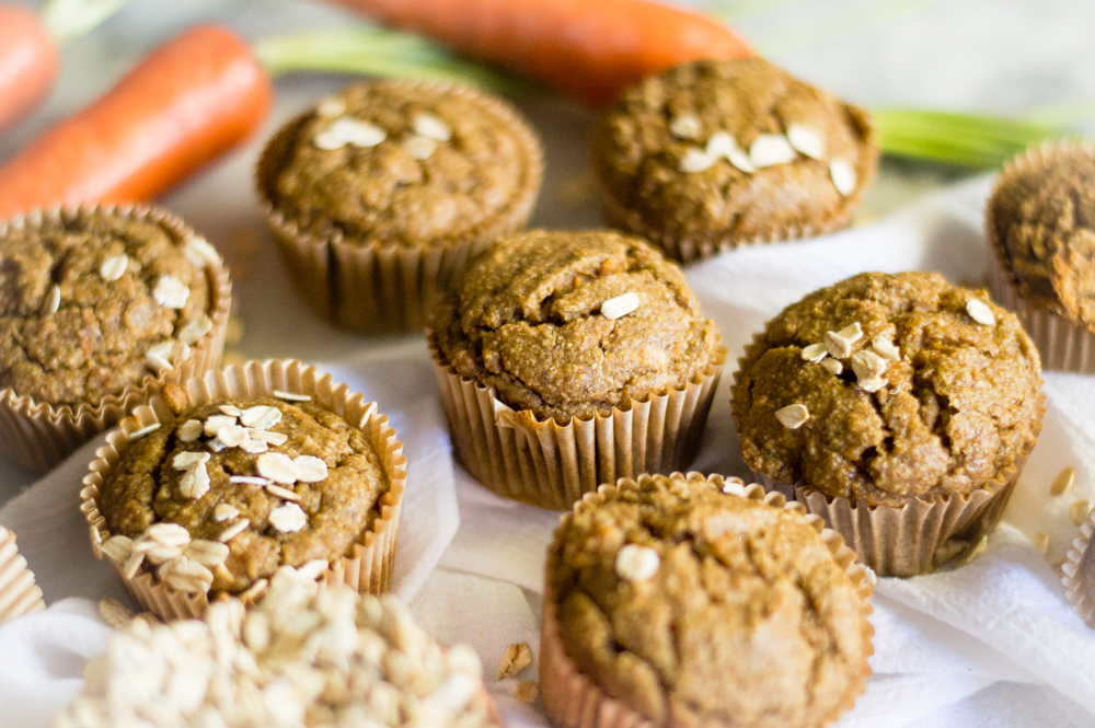 Egg-Free Carrot Apple Muffins