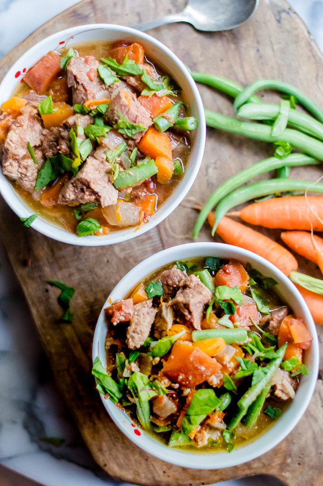 Slow Cooker Almond Butter Beef Stew