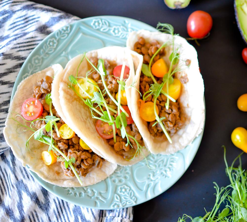 Slow Cooker Lentil Tacos