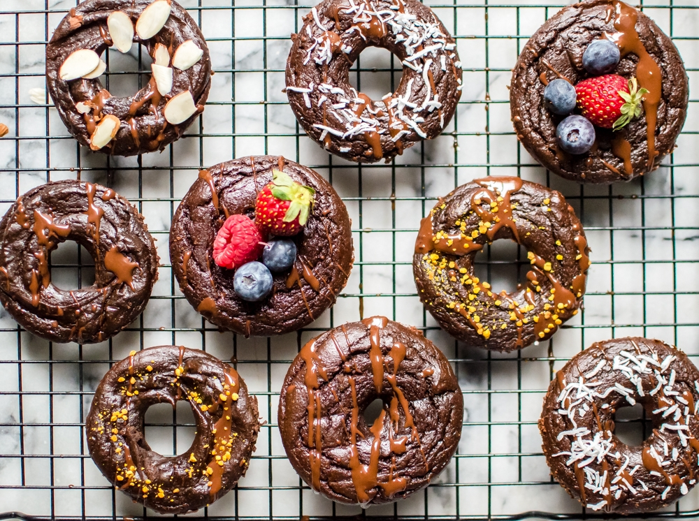 Flourless Chocolate Protein Donuts (with hidden veggies!)