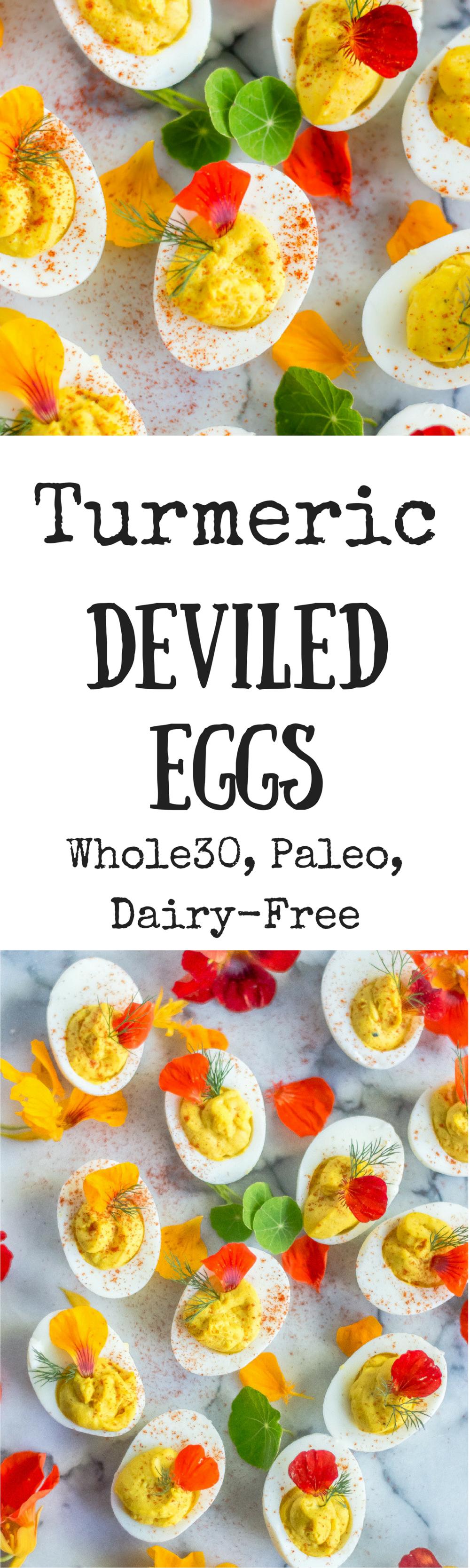 Turmeric Deviled Eggs