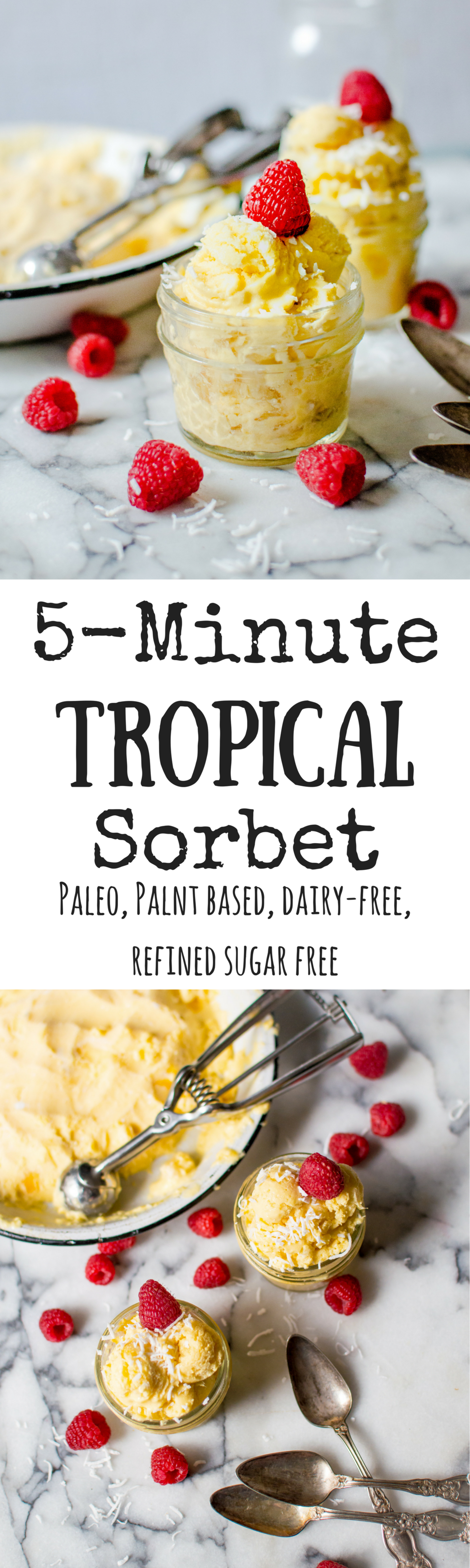 5-Minute Tropical Sorbet