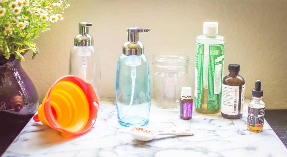 Homemade Natural Foaming Hand Soap