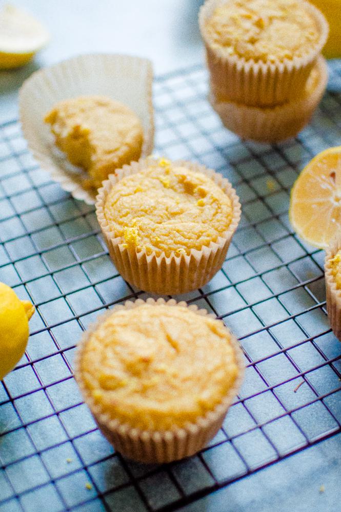One-Bowl Paleo Lemon Muffins