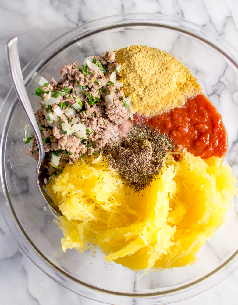 Veggie-Loaded Spaghetti Squash Bake