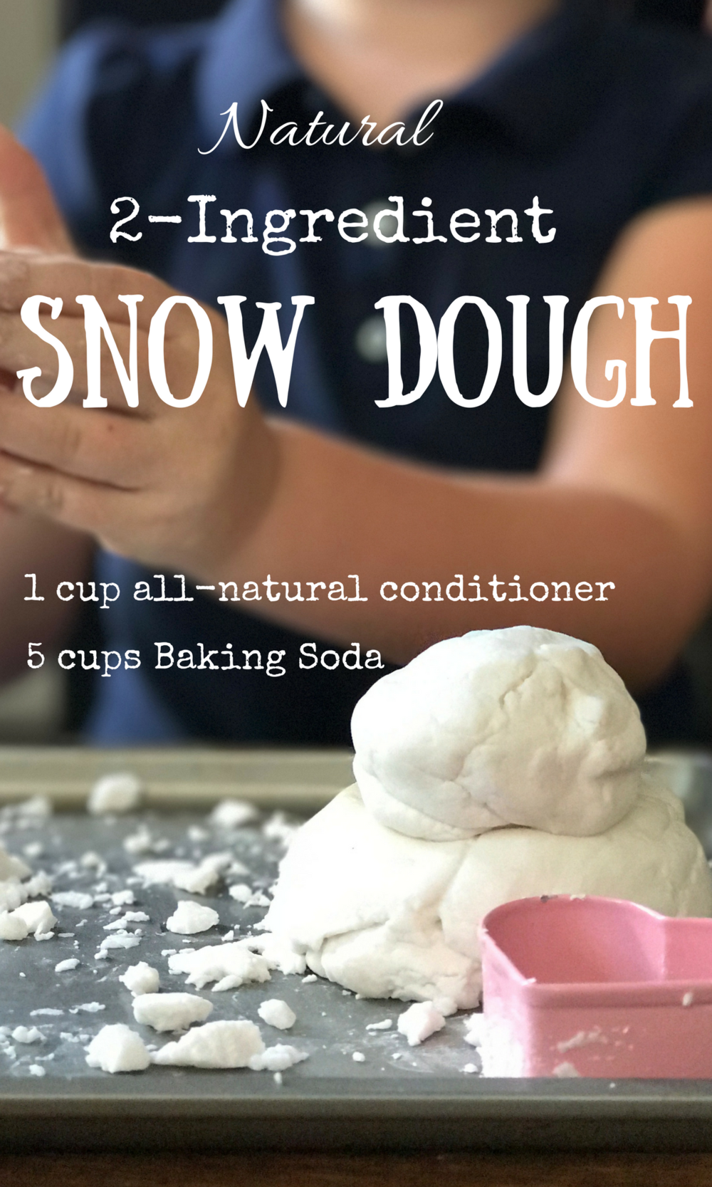 Natural 2-Ingredient Snow Dough