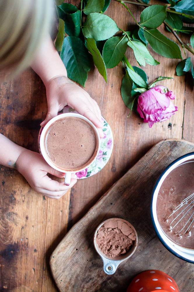 The BEST {dairy-free} Hot Chocolate