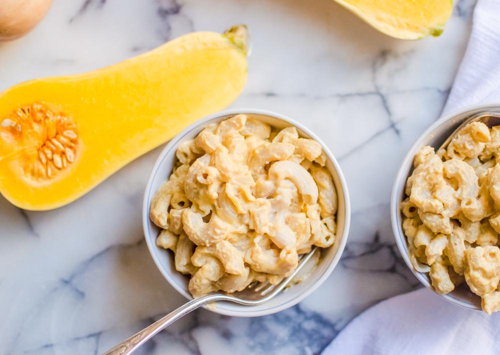 "Butternut Squash Mac & ""Cheese"" {dairy-free, gluten free}"