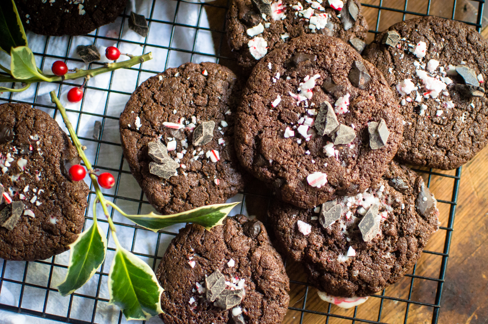 Chewy Paleo Chocolate Peppermint Cookies {egg-free, nut-free}