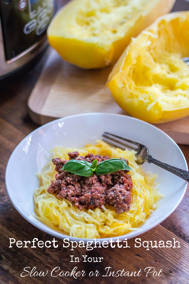 Perfect Spaghetti Squash In Your Slow Cooker or Instant Pot