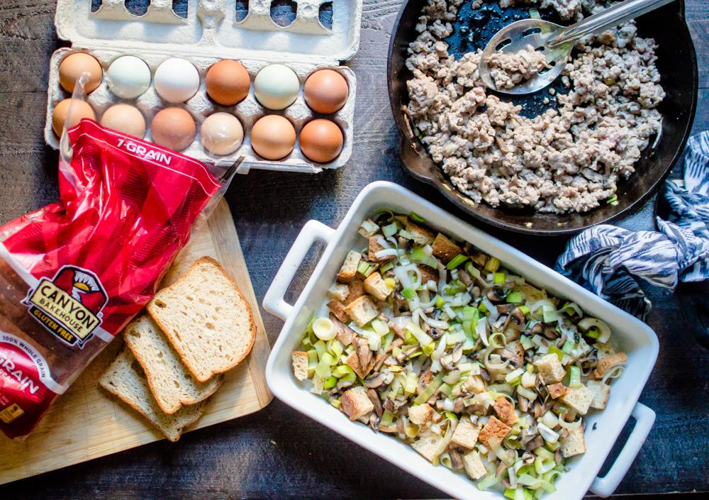 Sausage Leek & Mushroom Breakfast Casserole {gluten free, dairy-free}