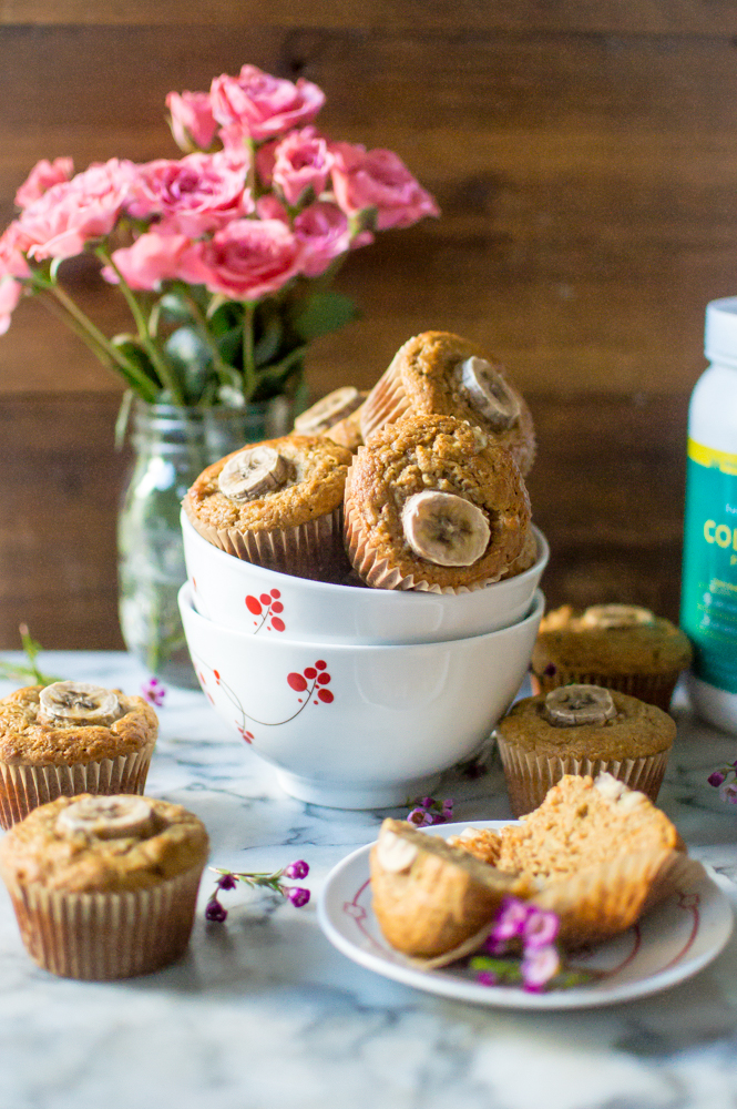One-Bowl Paleo Carrot Banana Muffins (with collagen!)