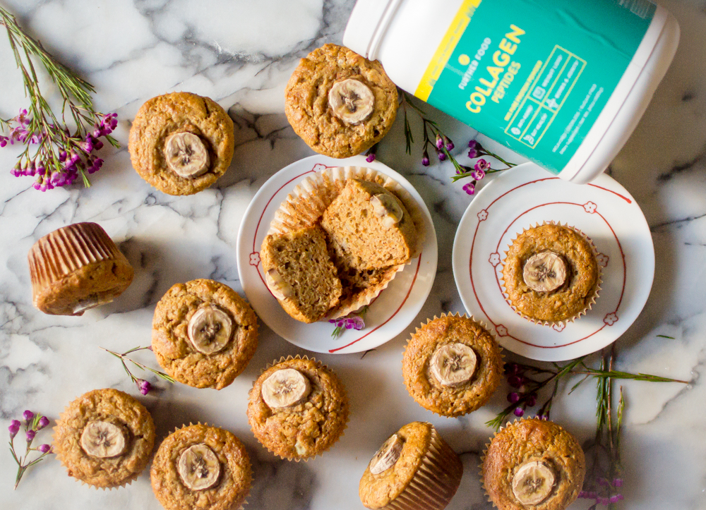 One-Bowl Paleo Carrot Banana Muffins (with collagen!) + Why We Take Collagen