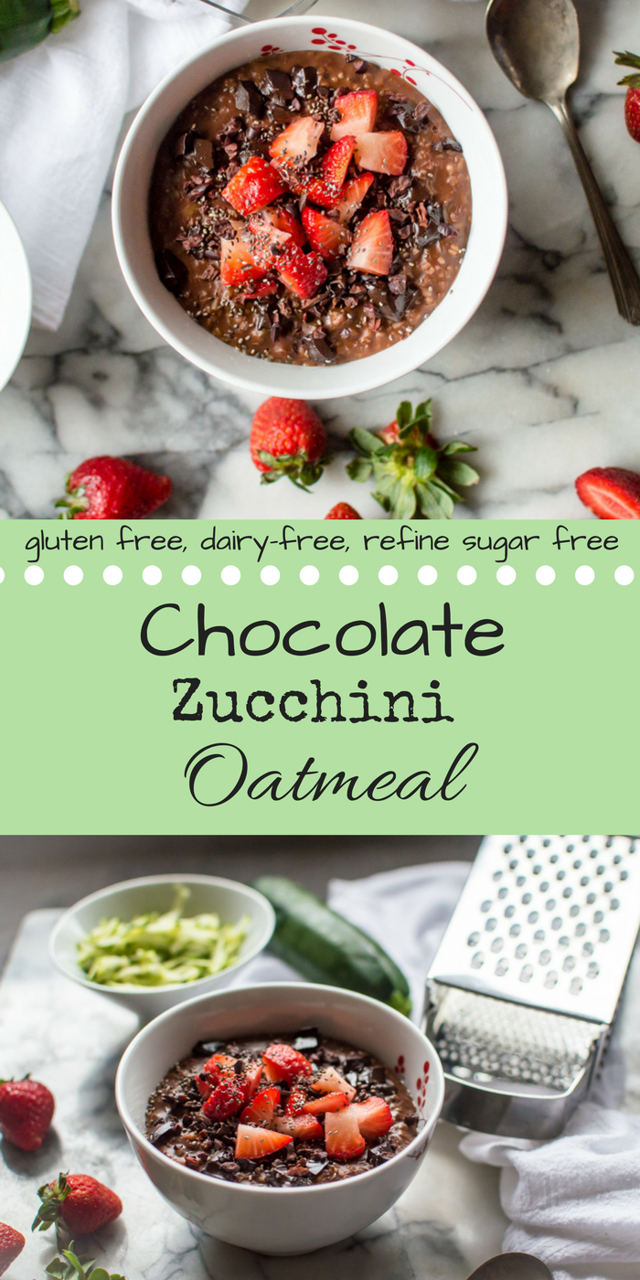 Chocolate Zucchini Oatmeal