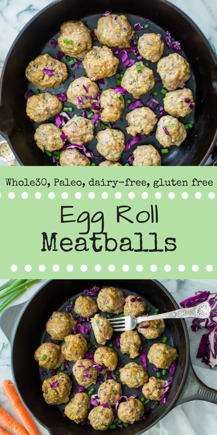 Egg Roll Meatballs {Paleo, Whole30}
