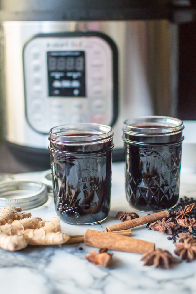 Instant Pot Elderberry Syrup (+ stovetop directions)