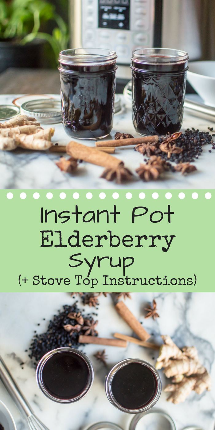 Instant Pot Elderberry Syrup (+ stove top directions)