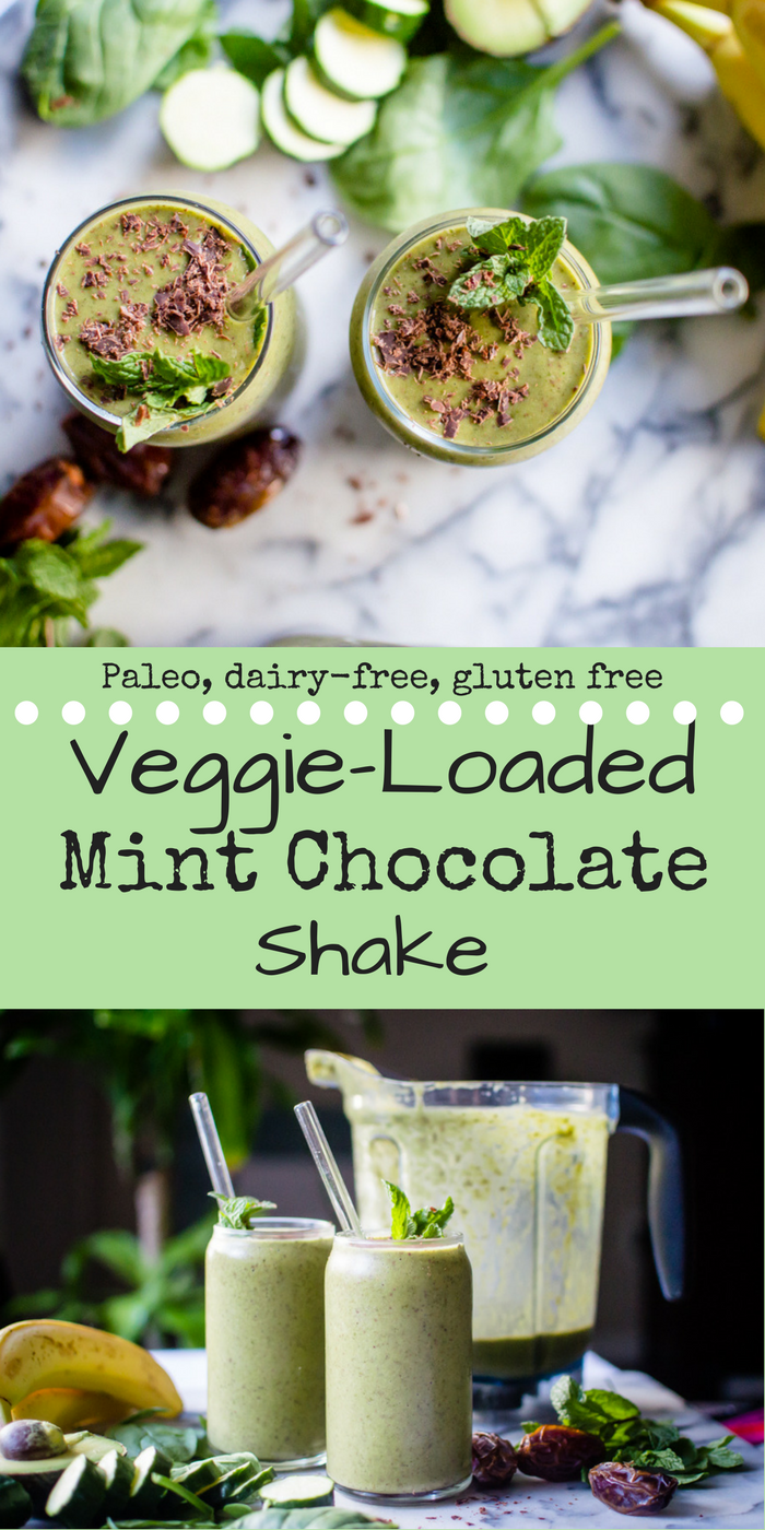 Veggie-Loaded Mint Chocolate Shake {dairy-free}