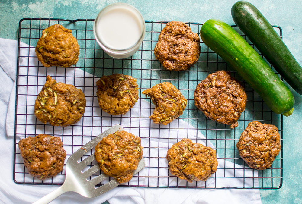 One-Bowl Paleo Almond Butter Zucchini Cookies! The perfect taste, soft texture, made from real food ingredients and loaded with veggie goodness! Gluten free and dairy free. These cookies are a must-make! #paleobaking #easypaleocookies #hiddenveggies #zucchinirecipesforkids