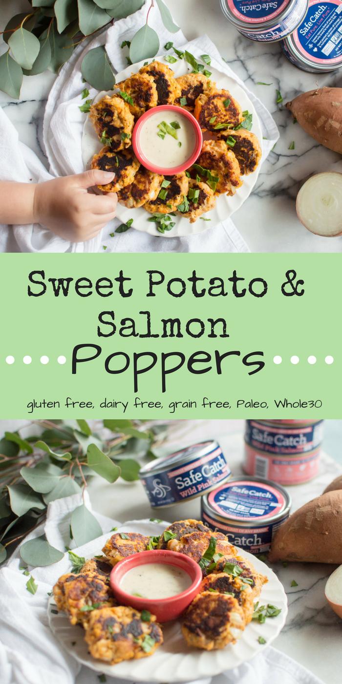 Sweet Potato & Salmon Poppers {Paleo, Whole30}