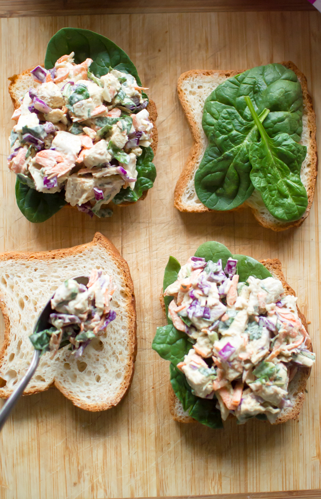 Veggie-Loaded Spring Chicken Salad is an easy-peasy, delicious recipe that is perfect for lunch or dinner.  #whole30salad #paleochickensalad #whole30chickensalad