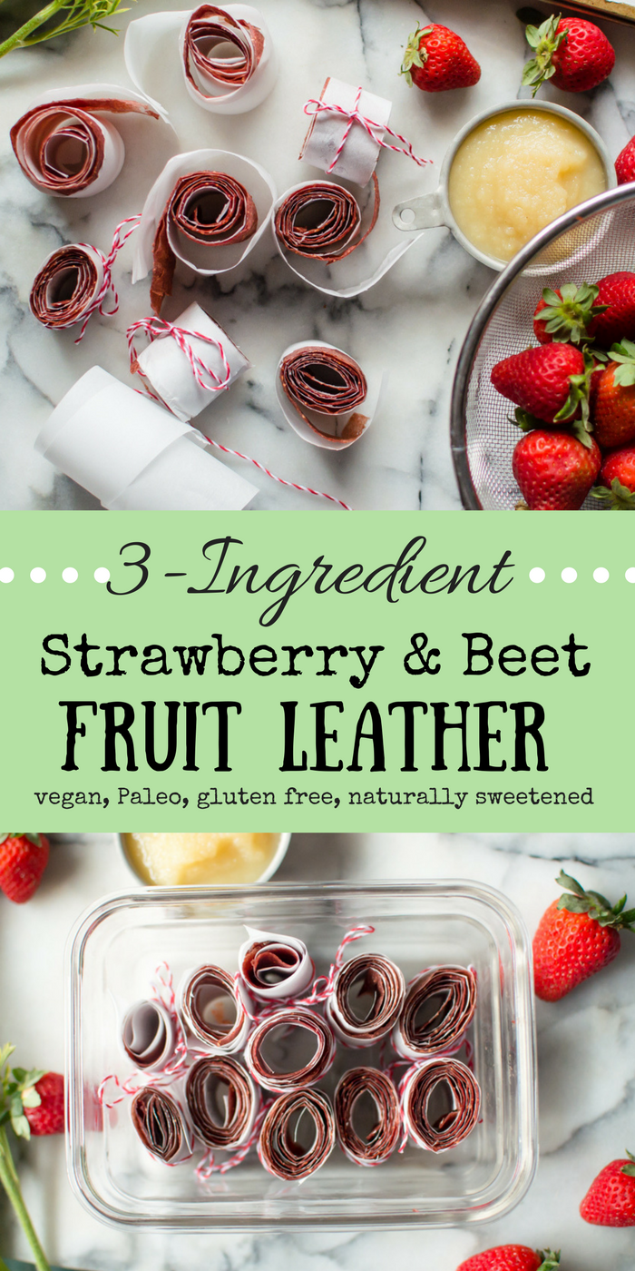 3-Ingredient Strawberry Beet Fruit Leather