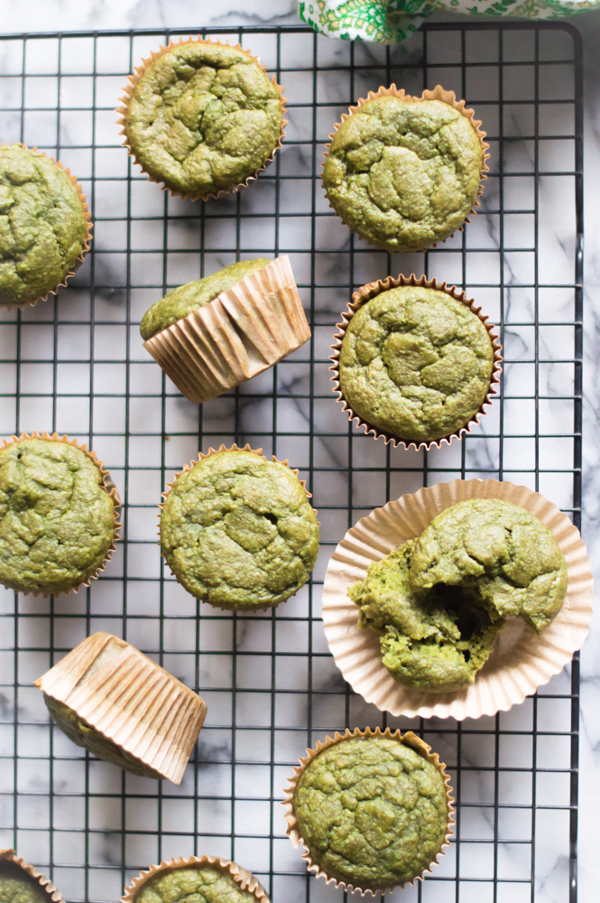 Loaded with nutrient-dense greens, naturally sweetened with bananas and a little honey/maple syrup, and packing an extra punch of fiber-rich rolled oats for good measure…a new breakfast favorite was born. Kid tested. Kid approved. Kid loved.  #hiddenveggies #veggieloaded #muffinswithhiddenveggies #healthymuffinrecipe #hiddenveggierecipesforkids #glutenfreemuffins #dairyfreemuffins #thenaturalnurturer #thenaturalnurturergreensmoothiemuffins