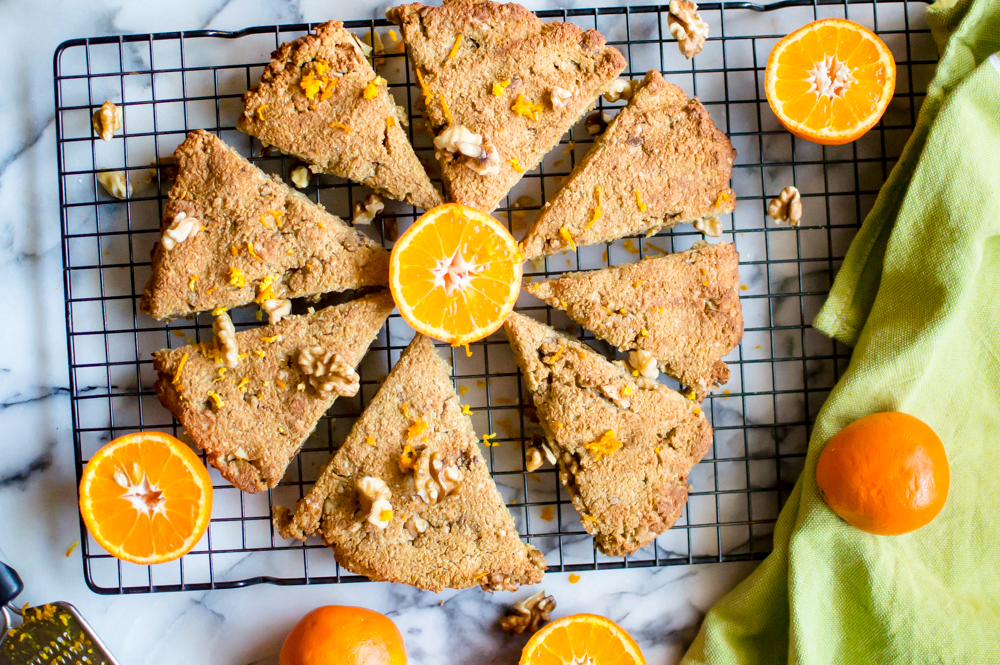 Scrumptious Paleo Orange Walnut Scones