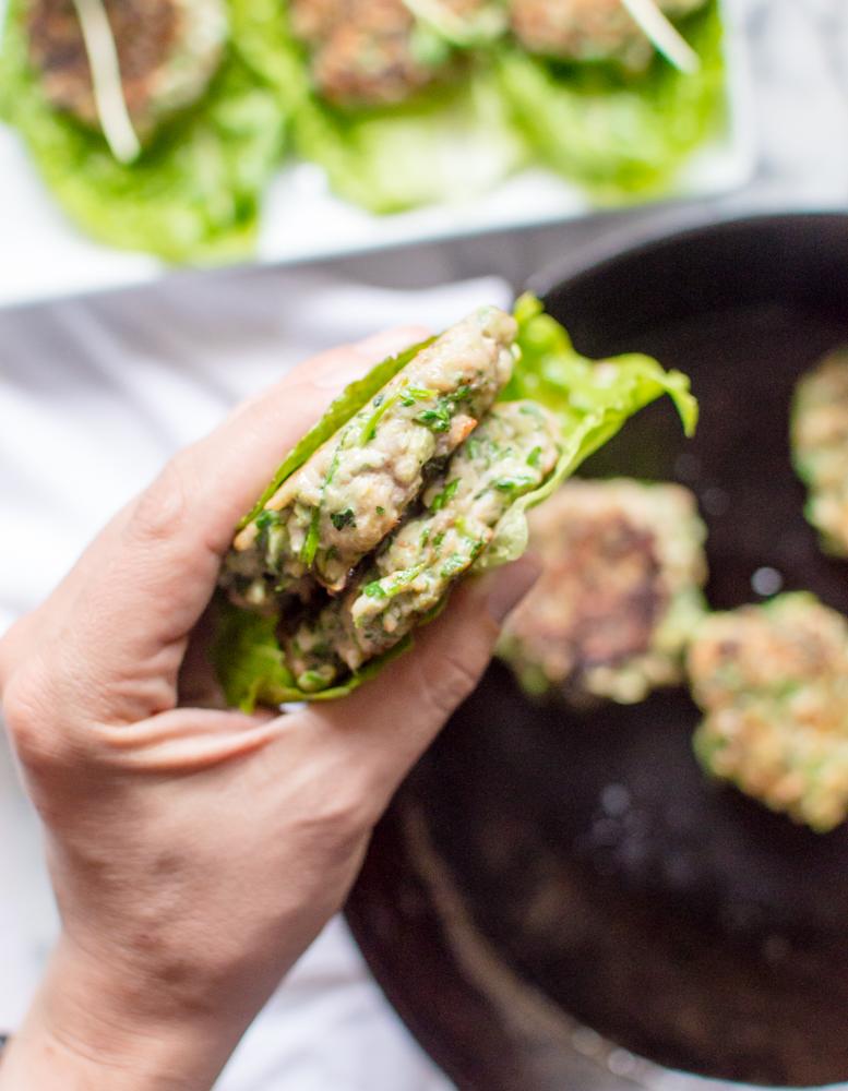 Glorious Green Veggie Chicken Burgers