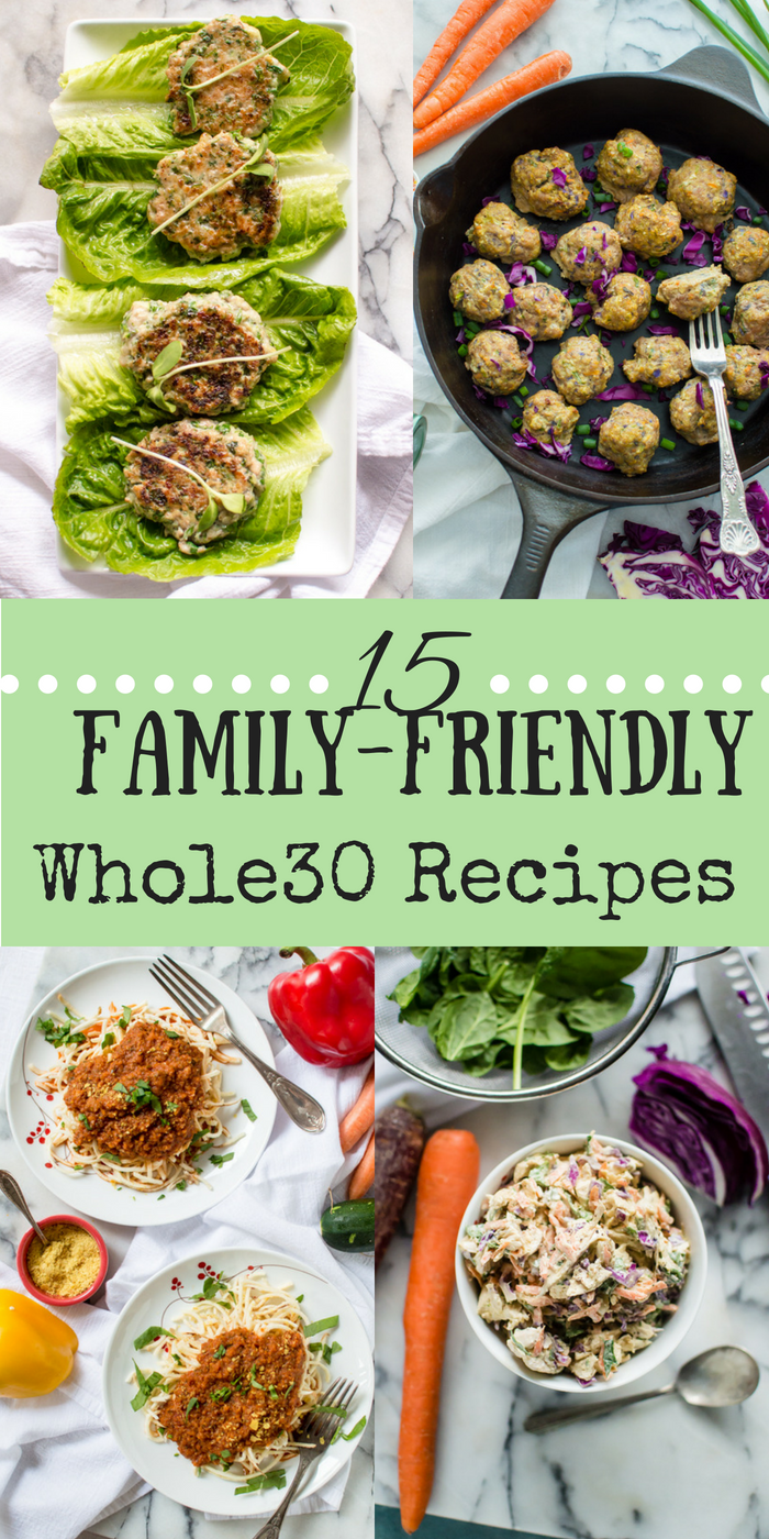 Finding Whole30 meals that your whole family will eat can be a a bit tricky. It's totally key to have some awesome and easy recipes in your back pocket that are both Whole30 compliant, paleo and something your whole family will not only eat but enjoy!  #whole30recipes #familyfriendlywhole30 #familyfriendlypaleo